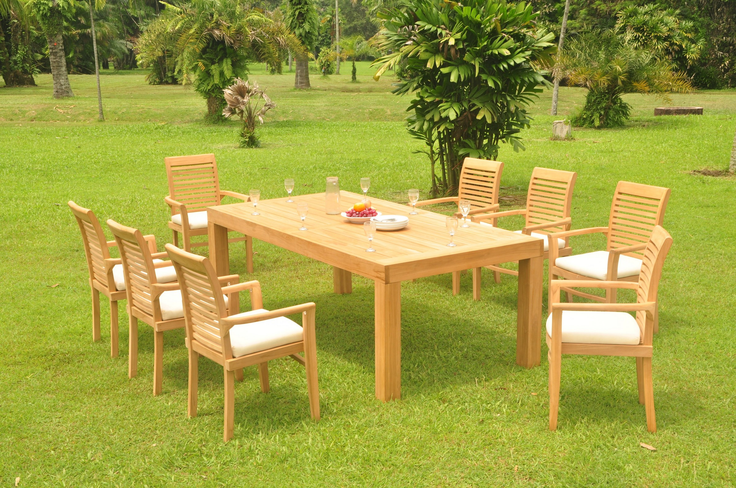 dsms a grade teak 9pc dining set 86 canberra rectangle table