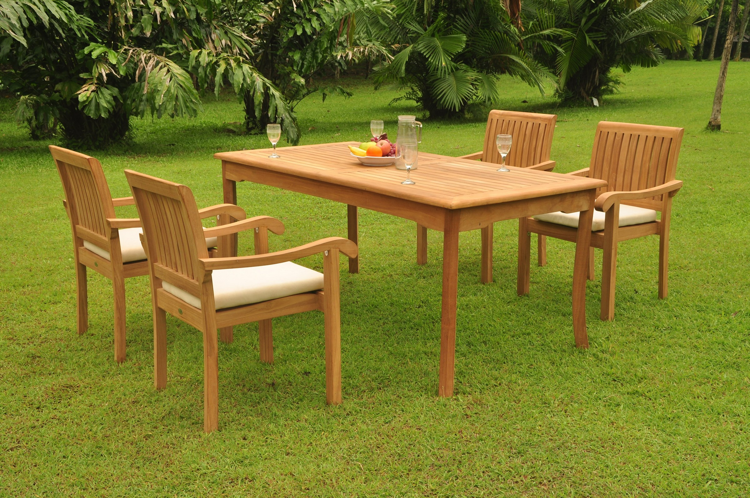 Image Is Loading A Grade Teak 5pc Dining 71 034 Rectangle