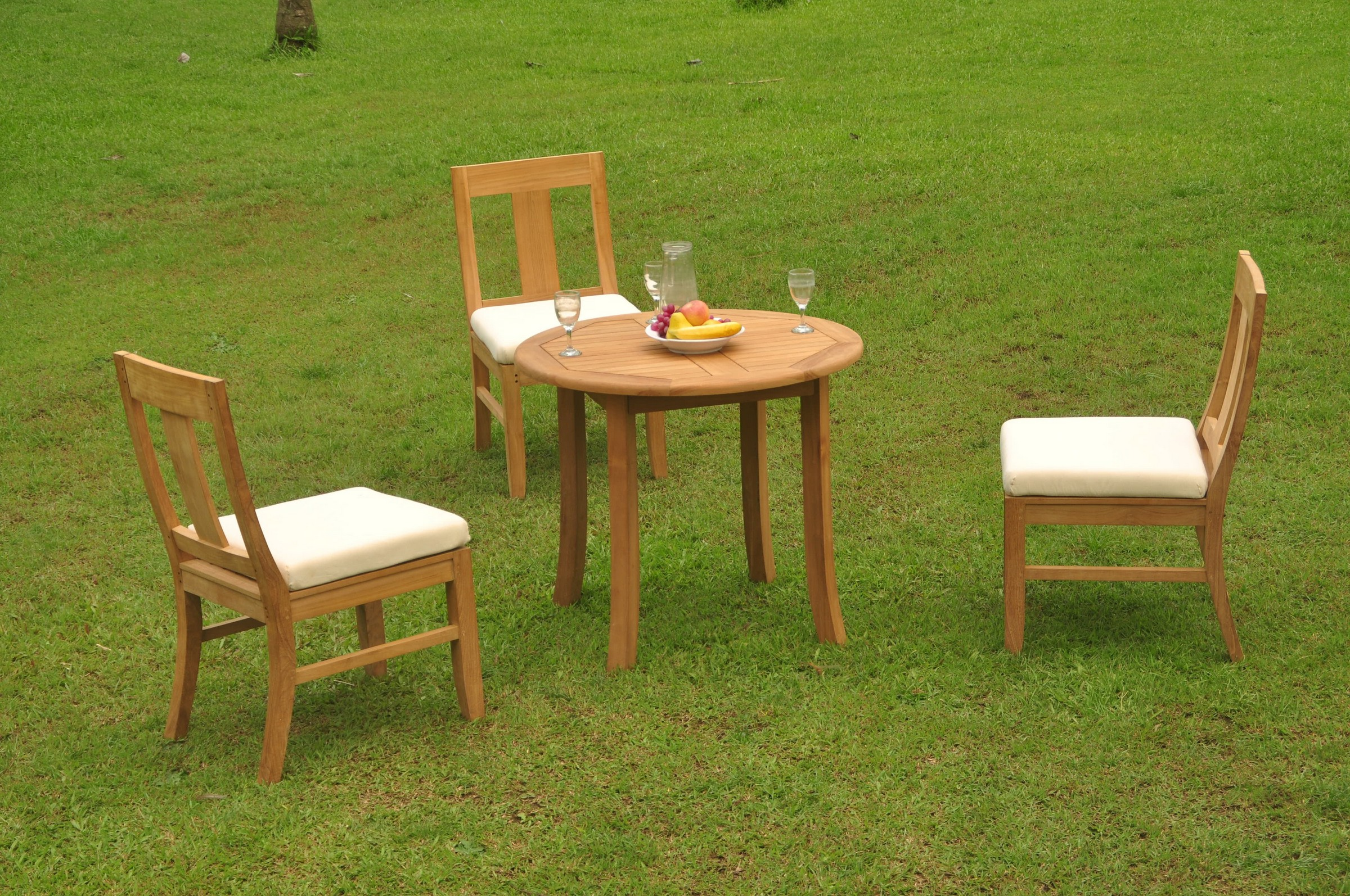 Dsos A Grade Teak 4pc Dining Set 36 Quot Round Table 3 Armless